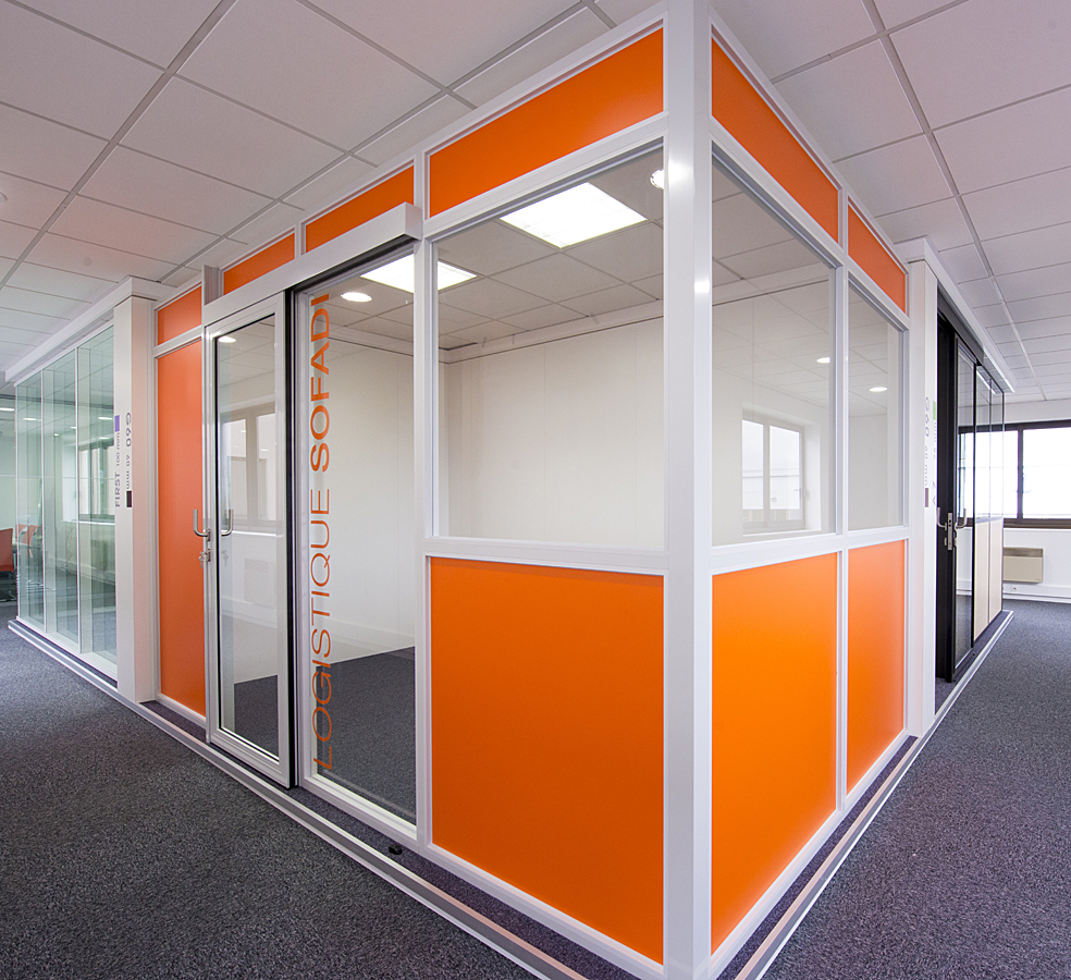 Modular Partition Removable Industry Glazed Design